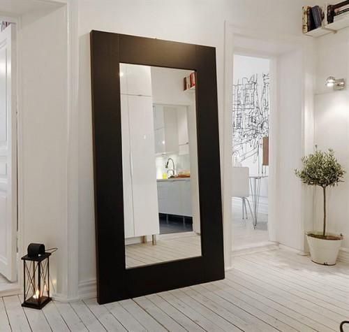 Freestanding large wall mirrors