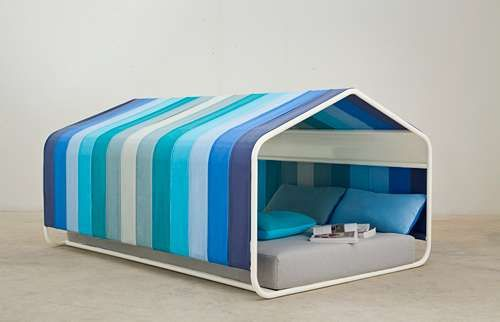 Beach Tent Canopy Bed This One Is Made With A Steel Frame And Heavy Canvas But You Could Make Diy Pvc Large Bedspread Mattress