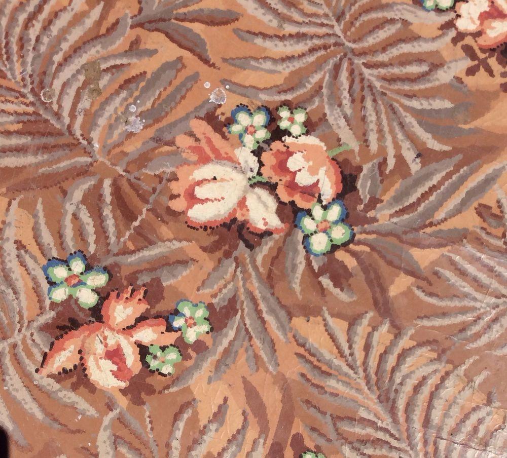 Retro Linoleum Kitchen Flooring: Vintage Linoleum Rug 9ft X 8.4ft Flooring