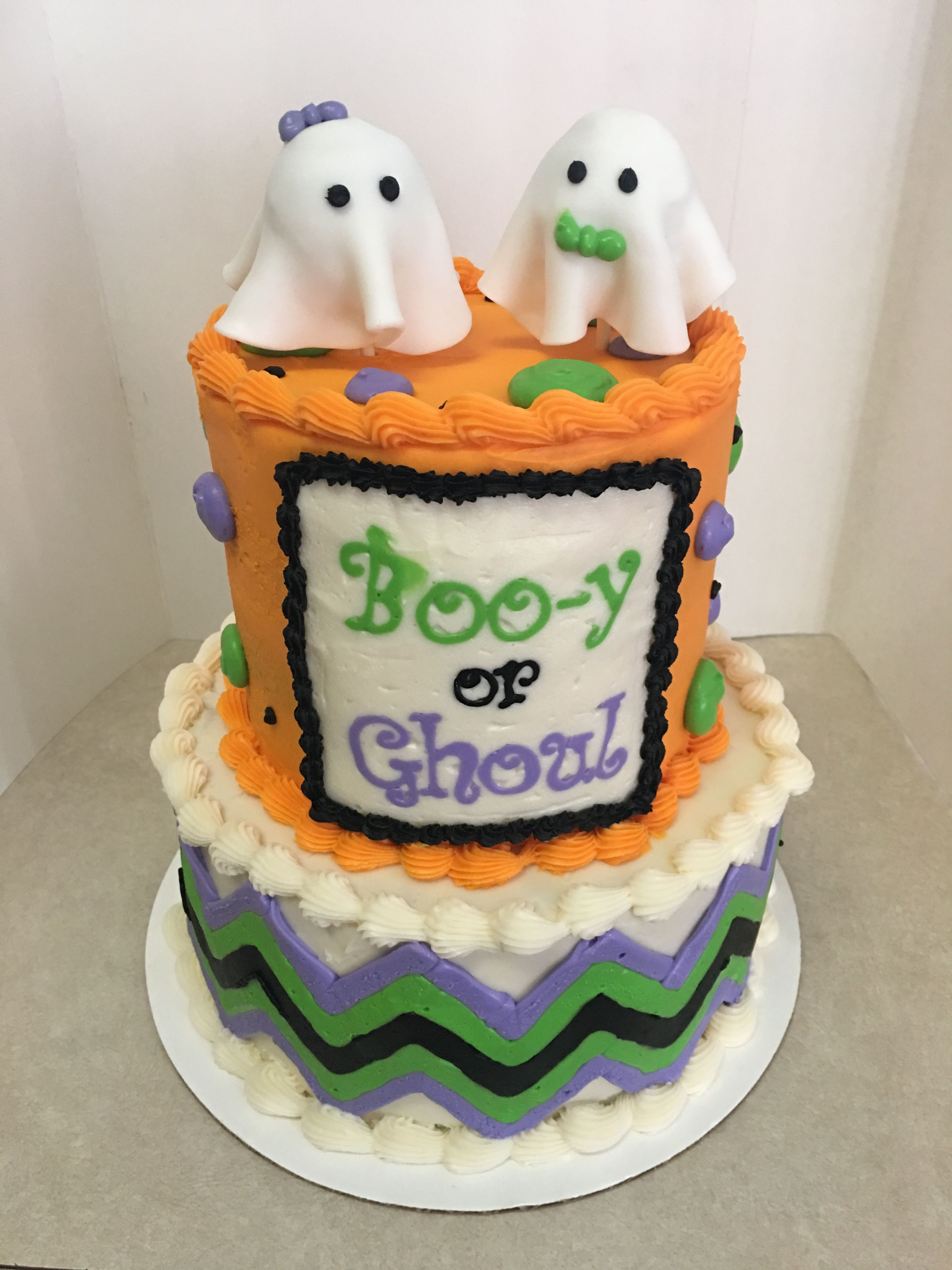 Boo Y Or Ghoul Gender Reveal Cake Halloween Gender Reveal Gender Reveal Cake Halloween Baby Shower