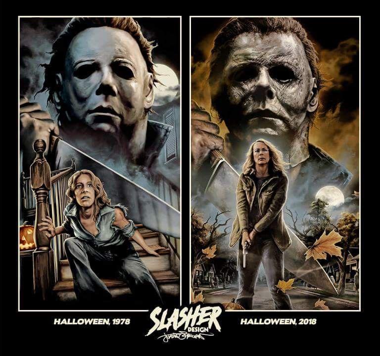 Halloween 1978 Vs Halloween 2018 Halloween Film Horror Movie Art Slasher Movies