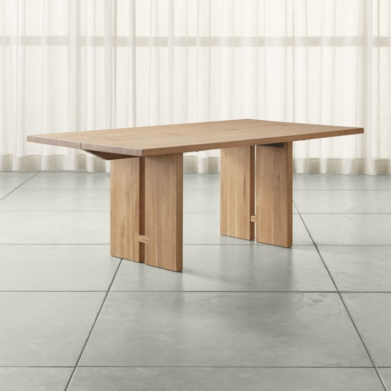 Monarch Natural Solid Walnut Dining Tables Crate And Barrel