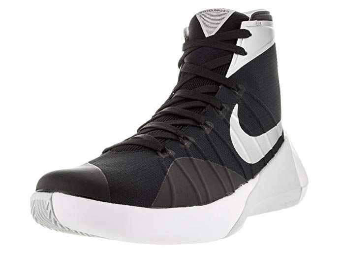 b9f96f31e7e6 Nike Mens Hyperdunk 2015 Team Basketball Shoe Black Anthracite White Silver  Size 9 M US