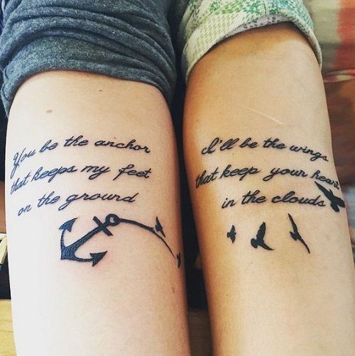 Tattoo Quotes For Friends: 100 Unique Best Friend Tattoos With Images