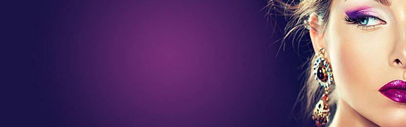 Makeup Purple Background Poster Purple Backgrounds Purple Wedding Album Templates
