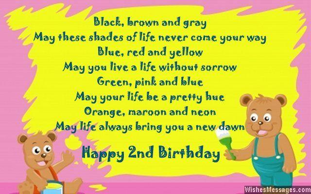 Second Birthday Poems Happy 2nd Birthday Poems Birthday Poems 2nd Birthday Boys Happy 2nd Birthday