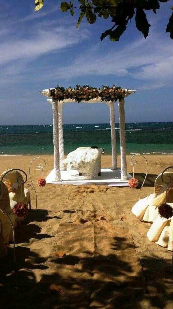 Beach Wedding Yndhira Vega Con Imagenes Puerto Plata Playa Dorada Playa