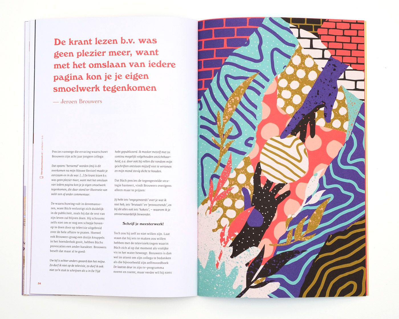 Design For Goede Papieren A Magazine For The Dutch Literature Museum One Of A Series Of Three Different Illustrations In The I Literature Museum Illustration