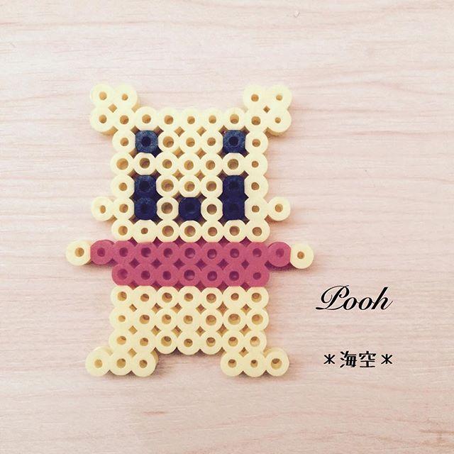 Winnie the Pooh perler beads by kaisora0_0 | pencils