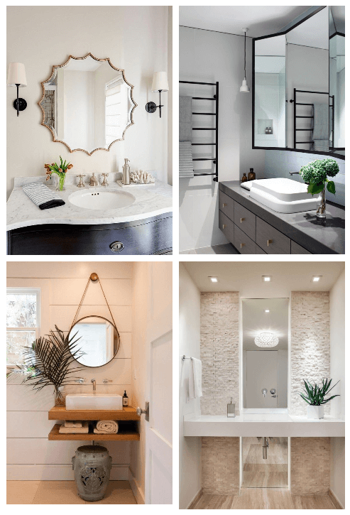 27 Best Bathroom Mirror Ideas For Every Style Small Bathroom Mirrors Unique Bathroom Mirrors Stylish Bathroom