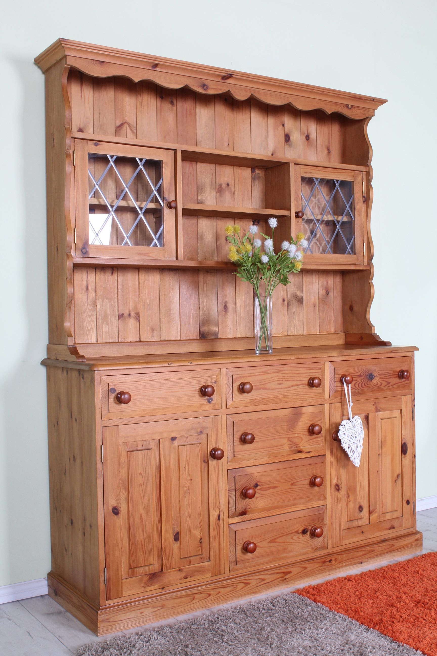 Welsh dresser all tongue & groove with dovetail joints solid
