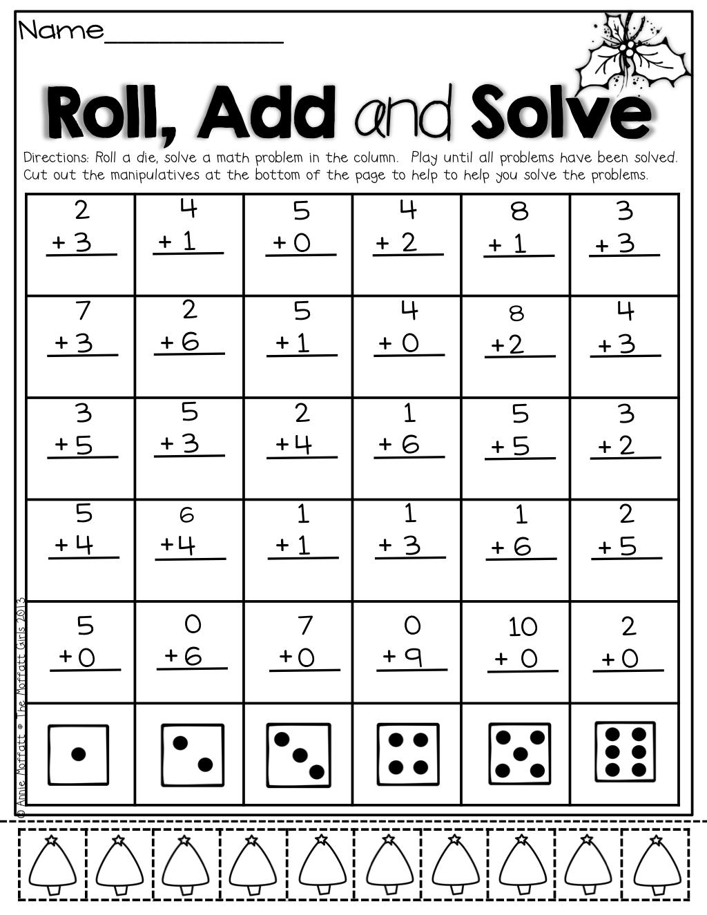 The Moffatt Girls Christmas No Prep Packet Kindergarten Math Classroom First Grade Math Math Lessons [ 1325 x 1024 Pixel ]
