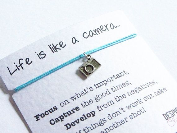 Camera Friendship Bracelet Wish with by DespicablyCharming on Etsy, £2.99
