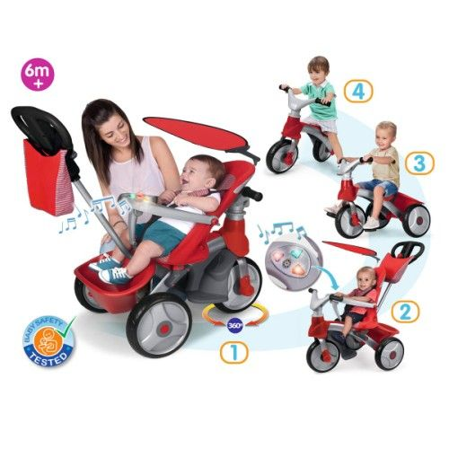 tricycle baby trike easy evolution 4 en 1 pas cher pour enfant de 6 mois 5 ans prix promo. Black Bedroom Furniture Sets. Home Design Ideas