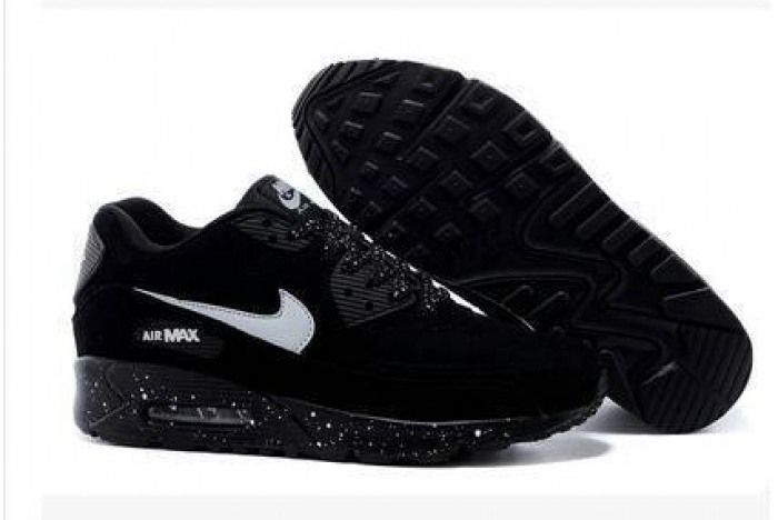 Nike Air Max 90 Fur All Black Ink Mens Womens Shoes | The