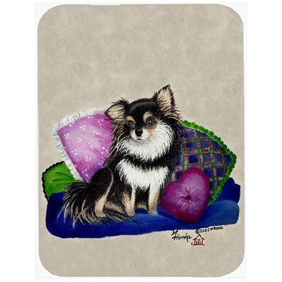 Caroline's Treasures Chihuahua on Their Couch Glass Cutting Board