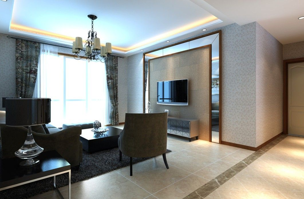 Tv Wall Border Decorative Design In Living Room Jpg 1062 694