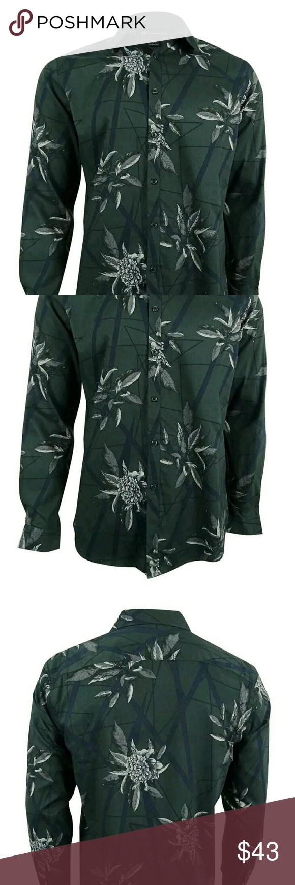 Dark green dress shirt  Nwt INC international dress shirt button down xl Boutique  Dress