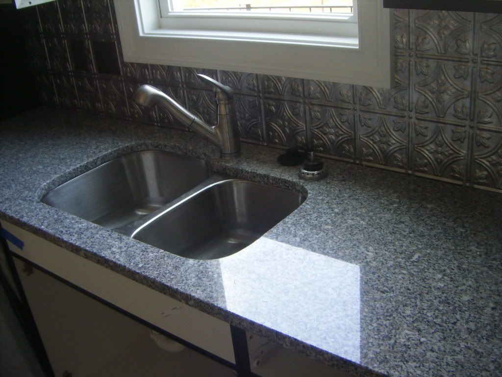 oriental white granite check out the tin backsplash diy projects rh pinterest com