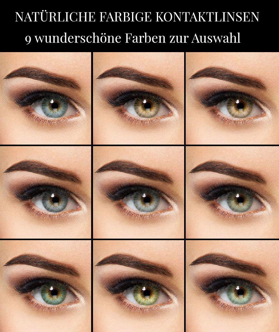 Die echt kontaktlinsen aussehen farbige Farbige Kontaktlinsen