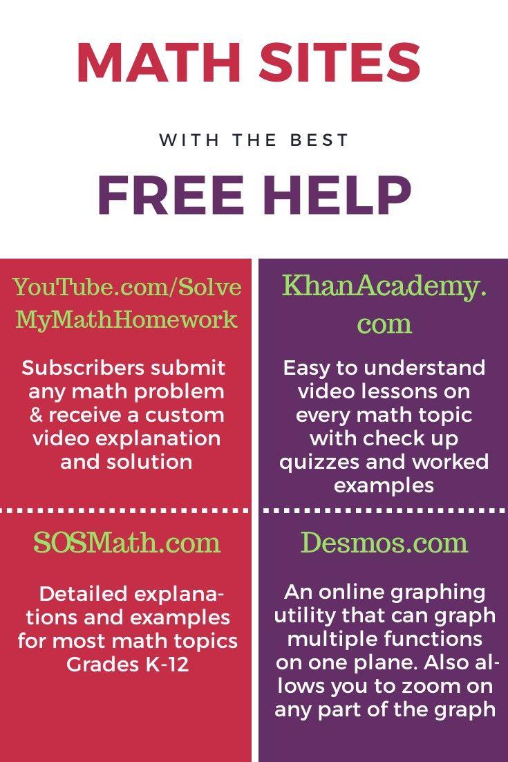 Homework help websites math
