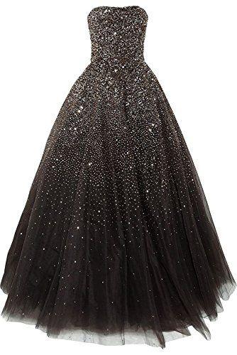 Lovelybride Amazing Strapless Beaded Prom Dress Long Formal Evening ...