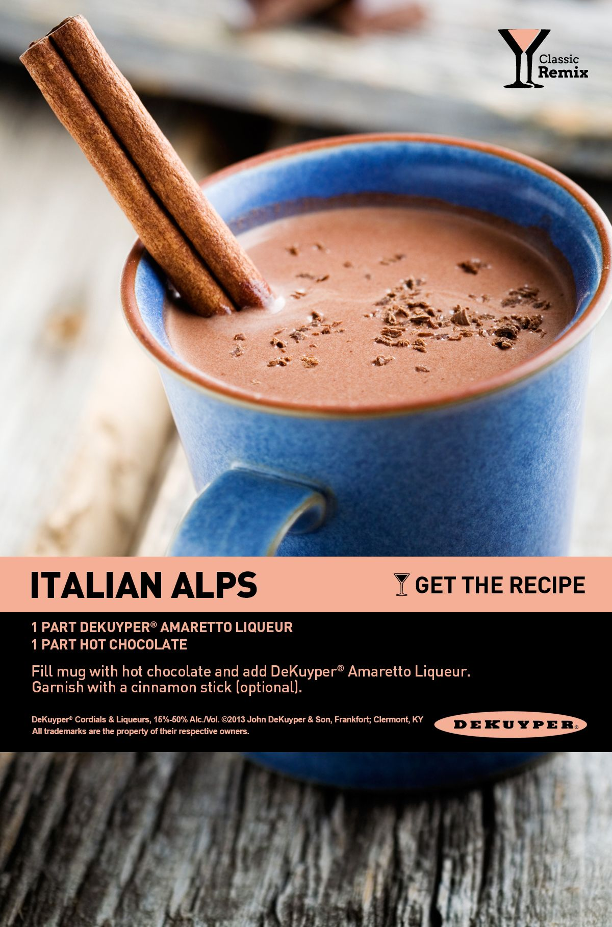 Italian Alps Cocktail Recipe. Perfect for a cozy evening