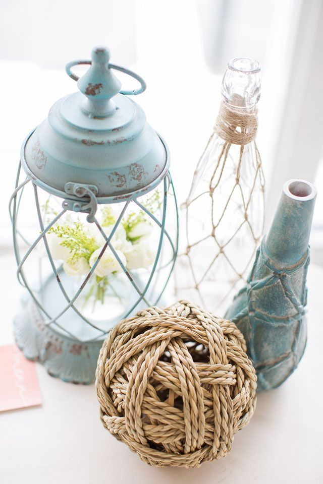 diy beach theme wedding centerpieces%0A Coastal Simplicity Harbor Wedding Inspiration by Heidi Calma Photography