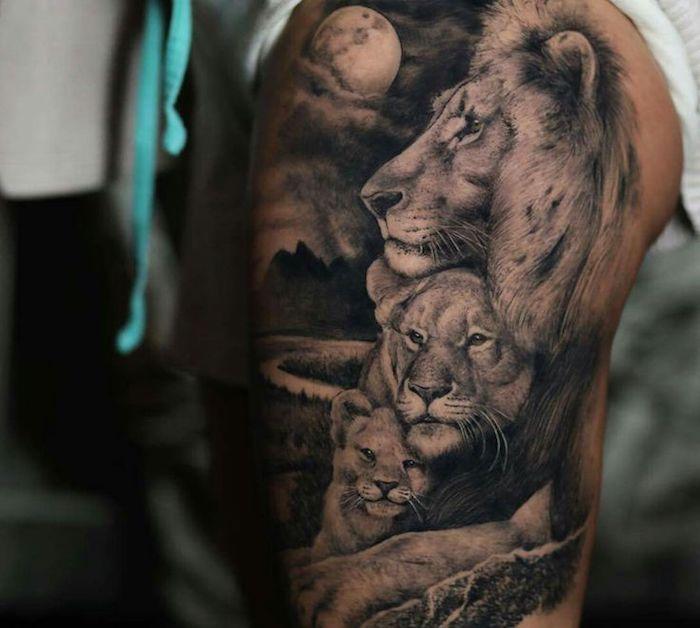 ▷ 1001 + coole Löwen Tattoo Ideen zur Inspiration #inspirationaltattoos