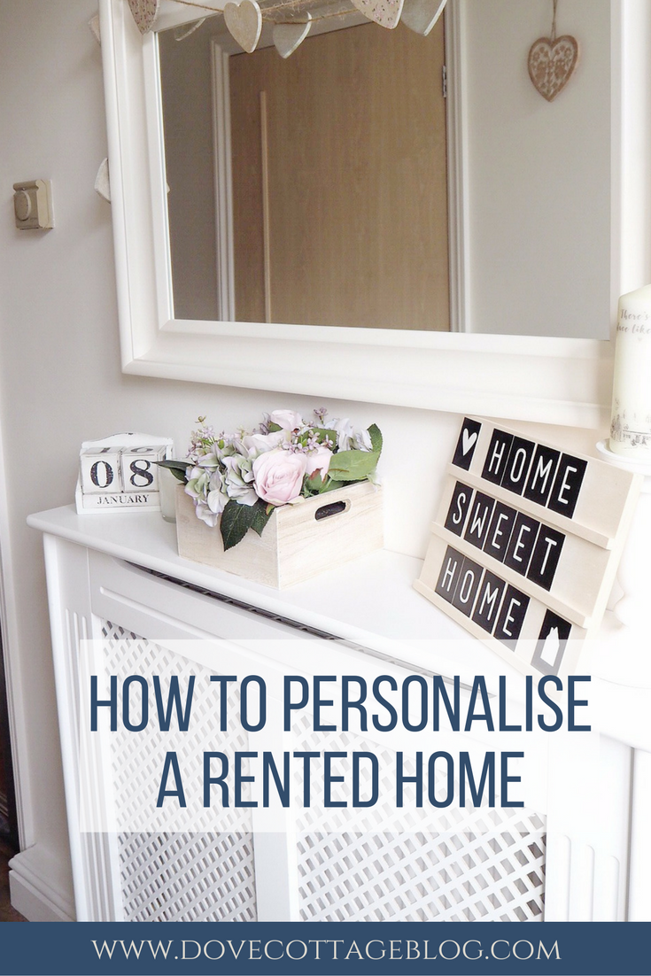personalising a rented home latest from dove cottage blog rh pinterest at  losing your house in a dream