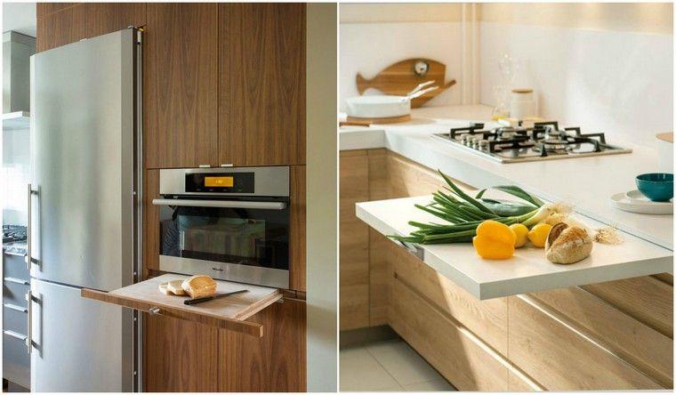 Versenkbare Arbeitsplatte zur Optimierung des Kücheninterieurs
