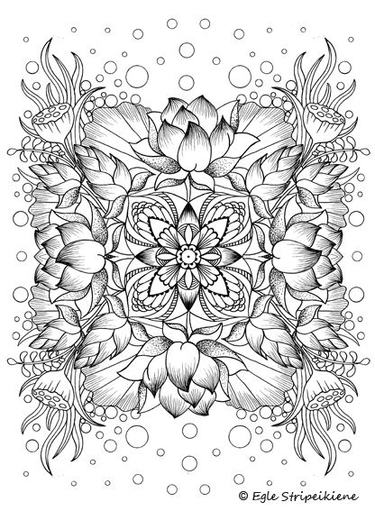 flowers advanced coloring pages 20