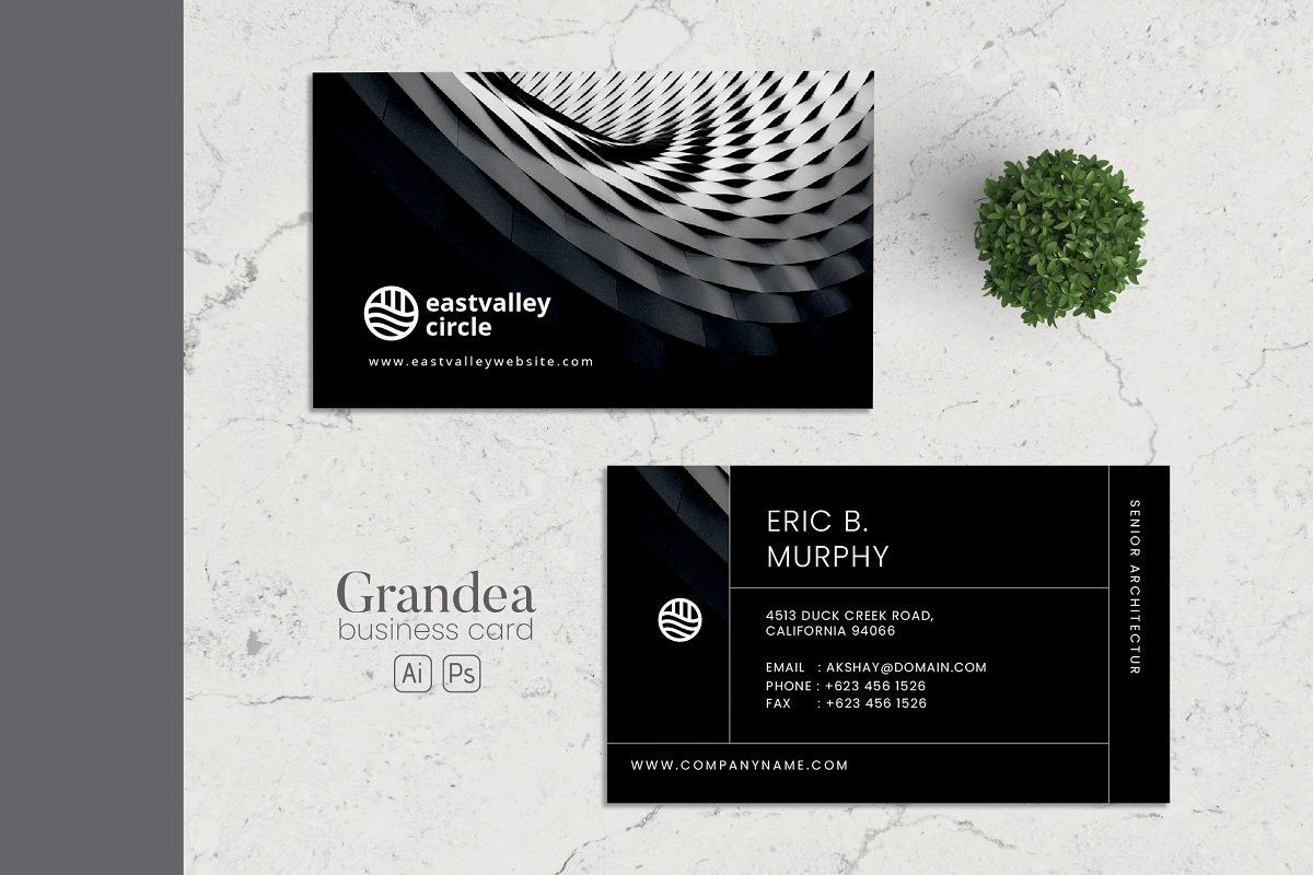 Business card ai and psd 3 minimalist business cards