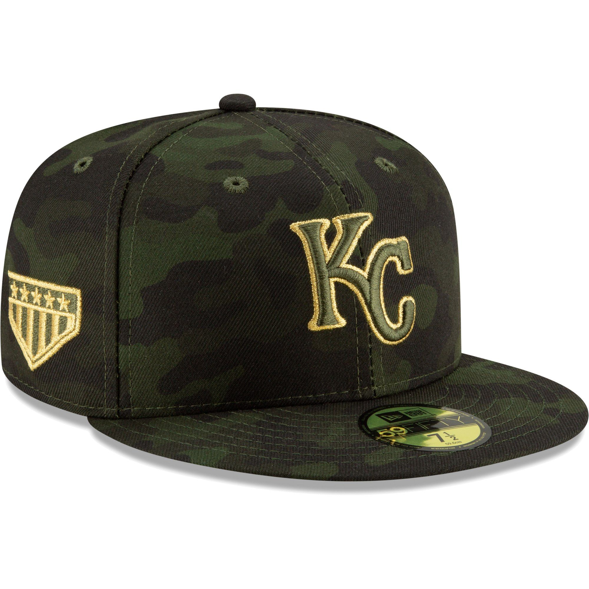 half off 696b3 355be Kansas City Royals New Era 2019 MLB Armed Forces Day On-Field 59FIFTY  Fitted Hat