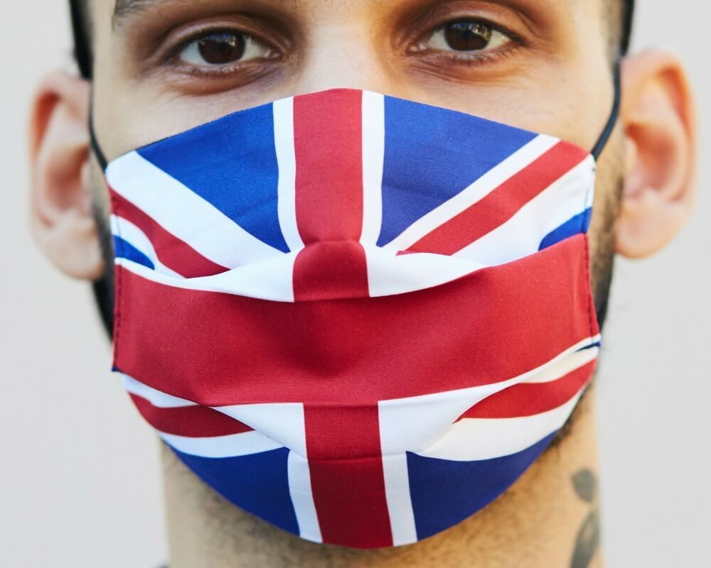 Uk Flag Protection Face Mask Reusable Washable Mask Filter Pocked In 2020 Uk Flag Face Mask Mask