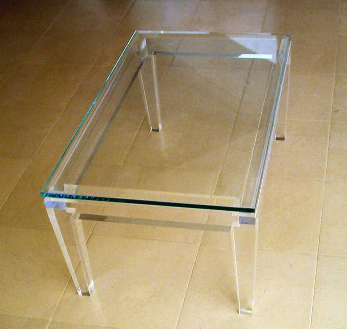 Acrylic Coffee Table With Glass Top From Acrylicinnovations.com. Acrylic  Coffee TablesInterior IdeasInnovationPrince ...
