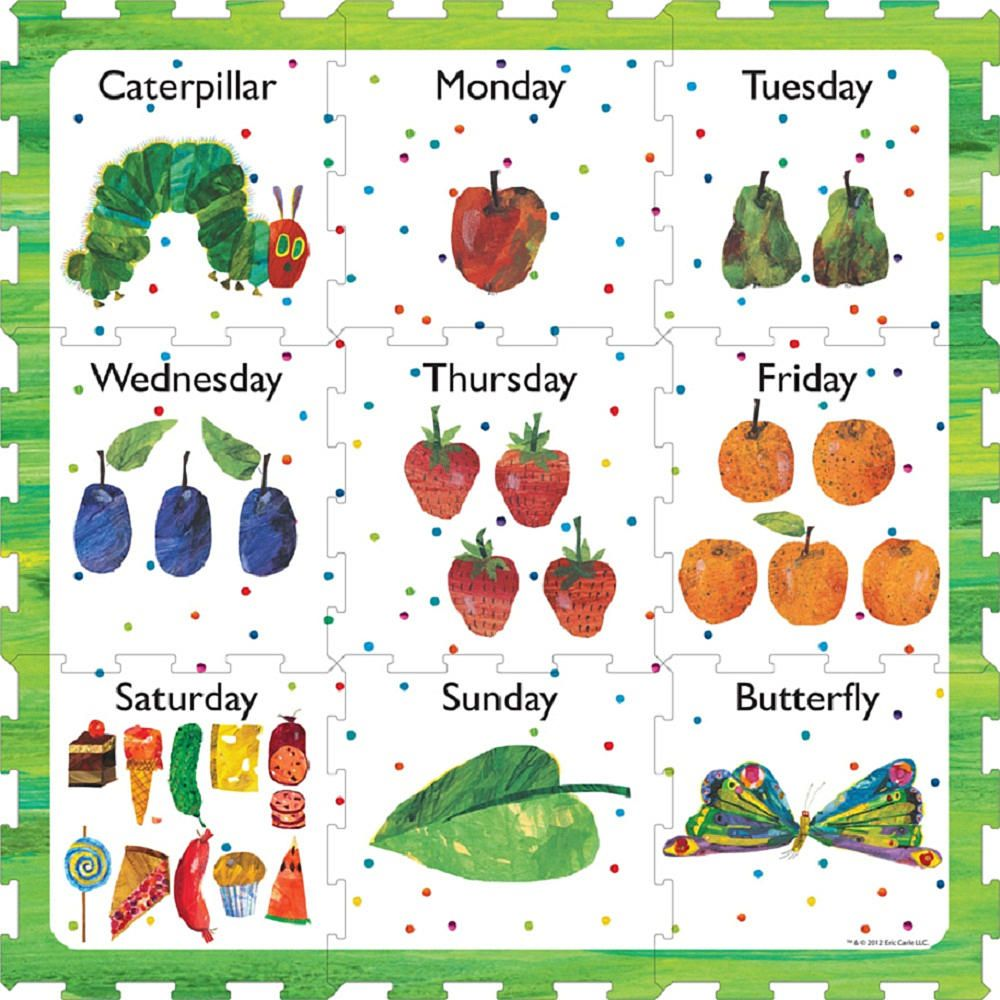 The Very Hungry Caterpillar Days Of The Week Play Mat By
