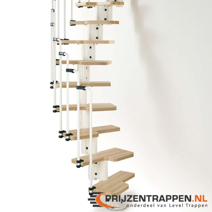 De trap karina kan recht maar ook gedraaid ge nstalleerd worden de draairichting van de trap - Ruimtebesparende mezzanine ...