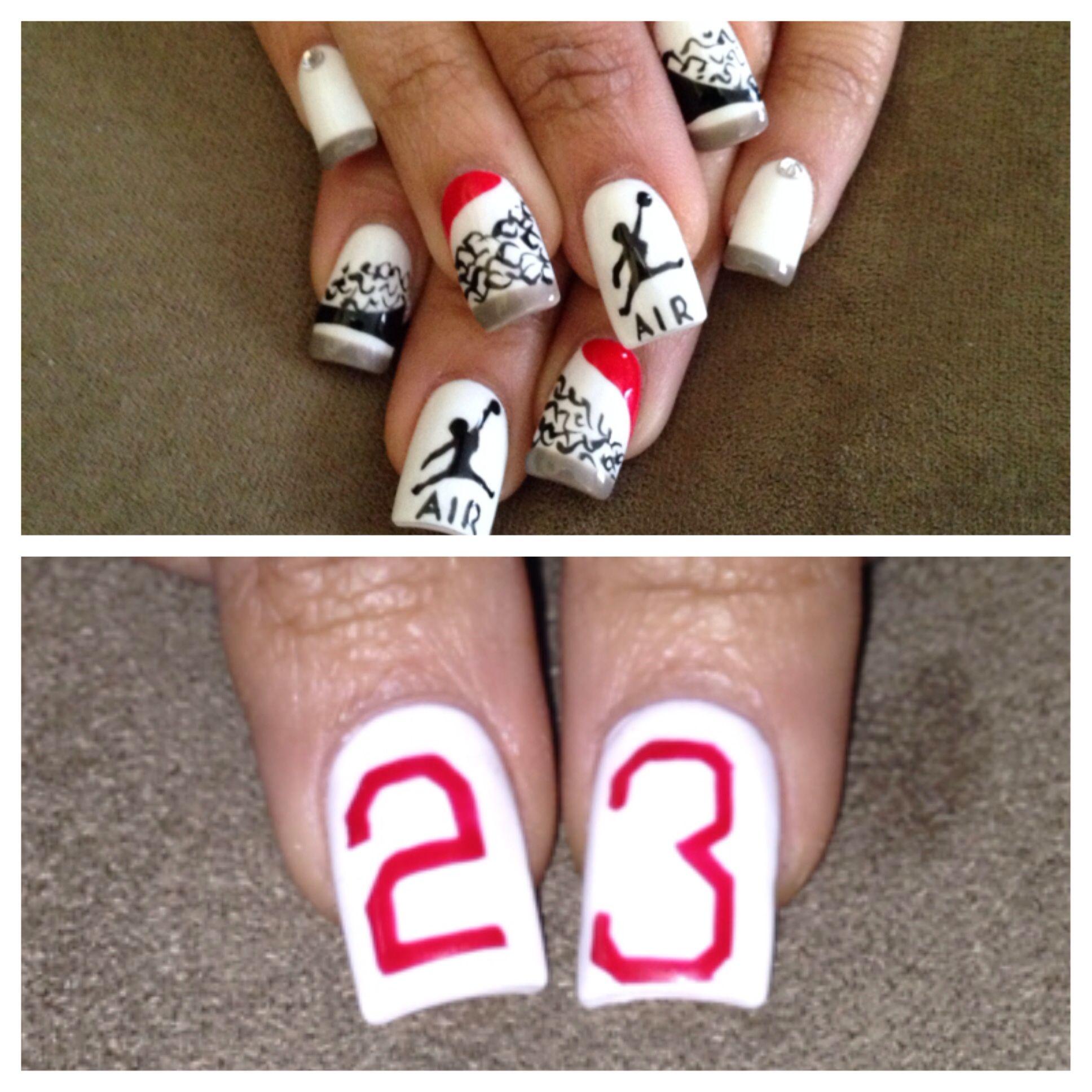 Air Jordan S 3 S Basketball Nails Nike Nails Cute Nails