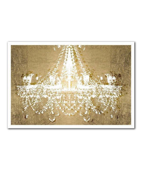 Dramatic Entrance Metallic Gold Giclee Wall Art chandelier print ...