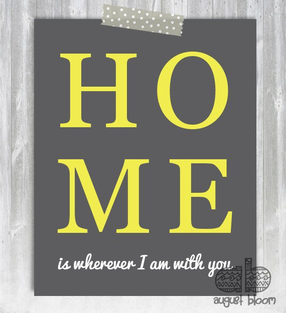 Home is Wherever I'm With You 8x10 Print  by AugustBloomDesigns, $9.95
