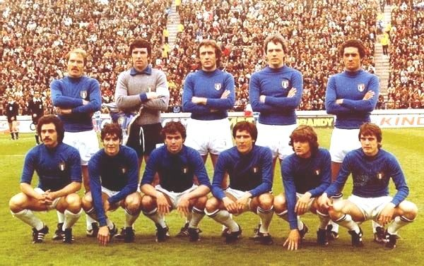 Italy's set up before the match against France in 1978 FIFA World Cup (Estadio José María Minella, Mar del Plata, Argentina - Jun 2nd, 1978).