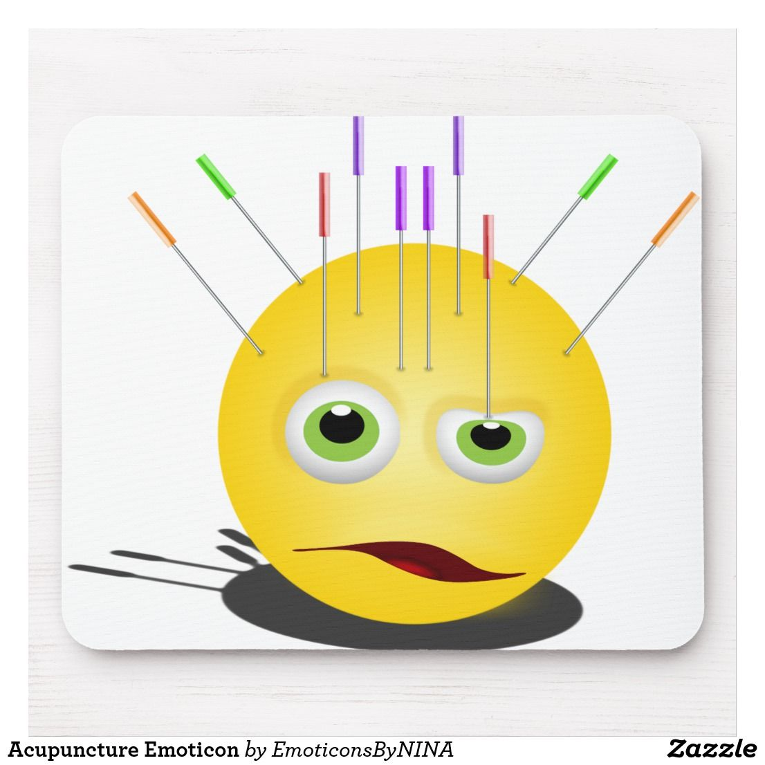 Acupuncture Emoticon Mouse Pad | Zazzle com | My Art on Zazzle
