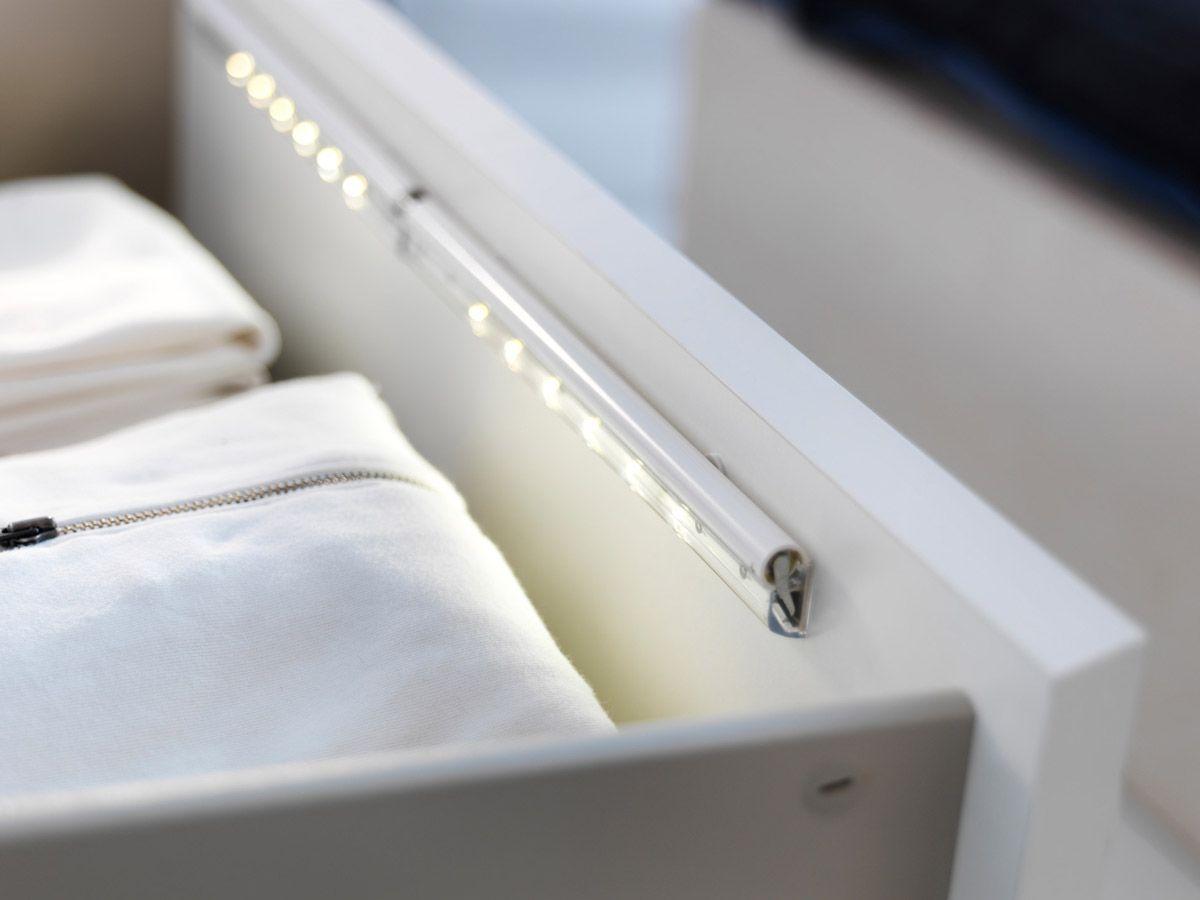 New Ikea Led Lamp For Illuminating Storage Drawers Freshome Com Drawer Lights Ikea Ikea Hack