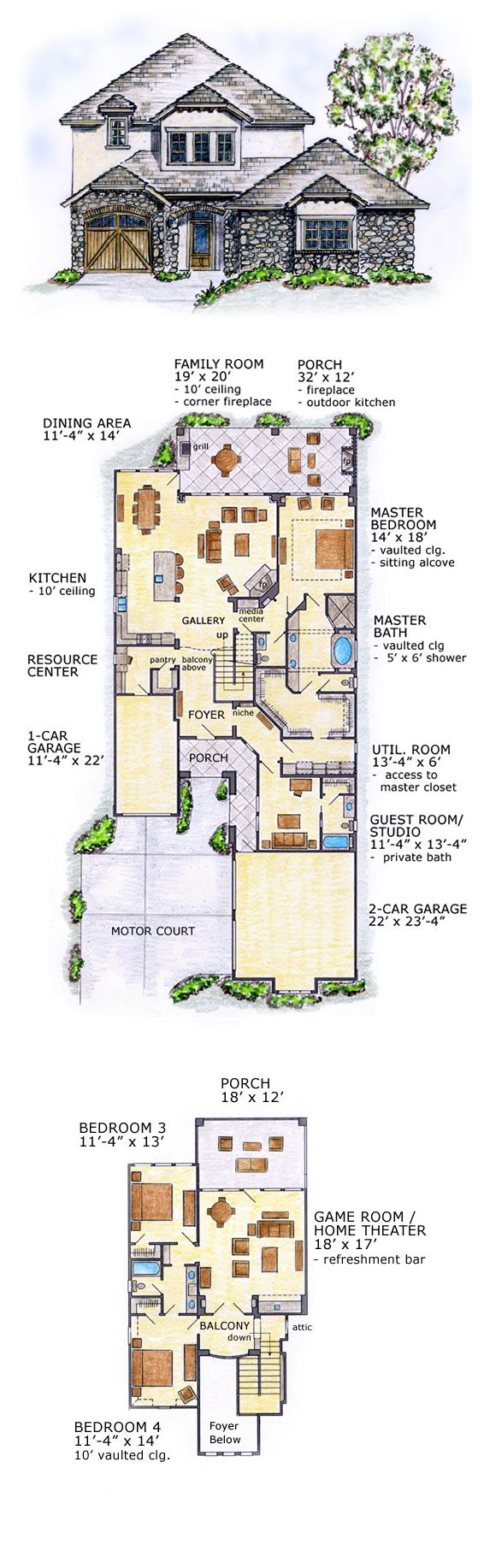 16 best tudor style house plans images on pinterest tudor style