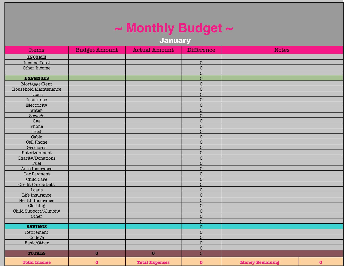 Monthly Budget Worksheet Excel Elegant Monthly Bud
