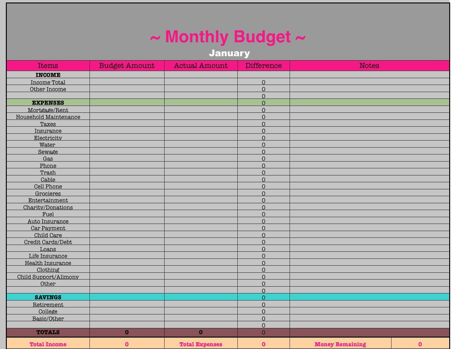 Monthly Budget Worksheet Excel Elegant Monthly Bud
