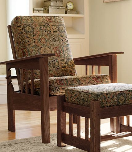 Morris Chair with Chenille Tapestry Cushions: Chairs at L.L.Bean ...