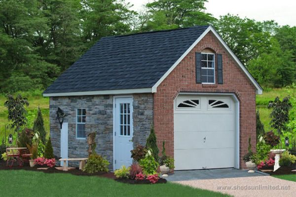 garage prefab structures portable built car wide roof pa shed quarters living story dormers with horizon double site three raised on and two garages category