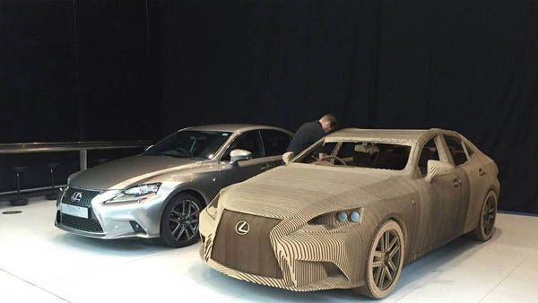 World First Origami Car Life Size Lexus Made Out Of Cardboard